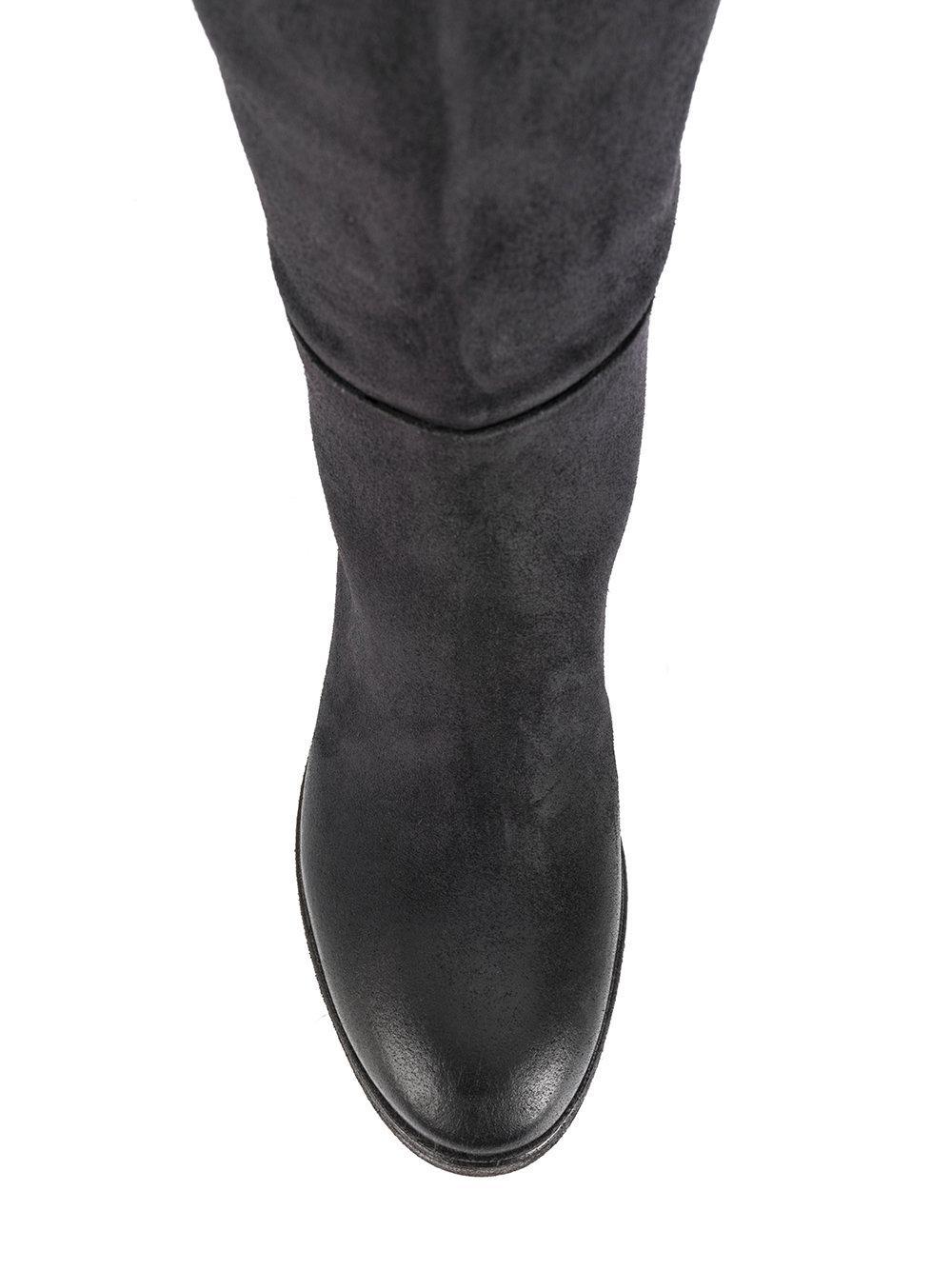 Roberto Del Carlo Leather Knee-length Boots in Grey (Grey)