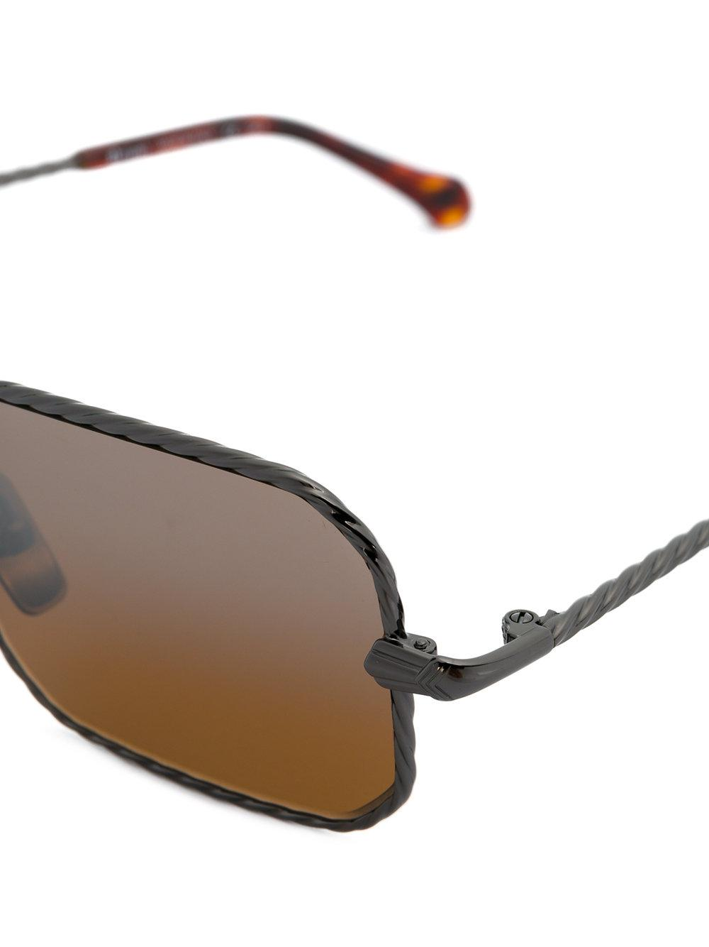 Brioni Square-frame Sunglasses in Brown