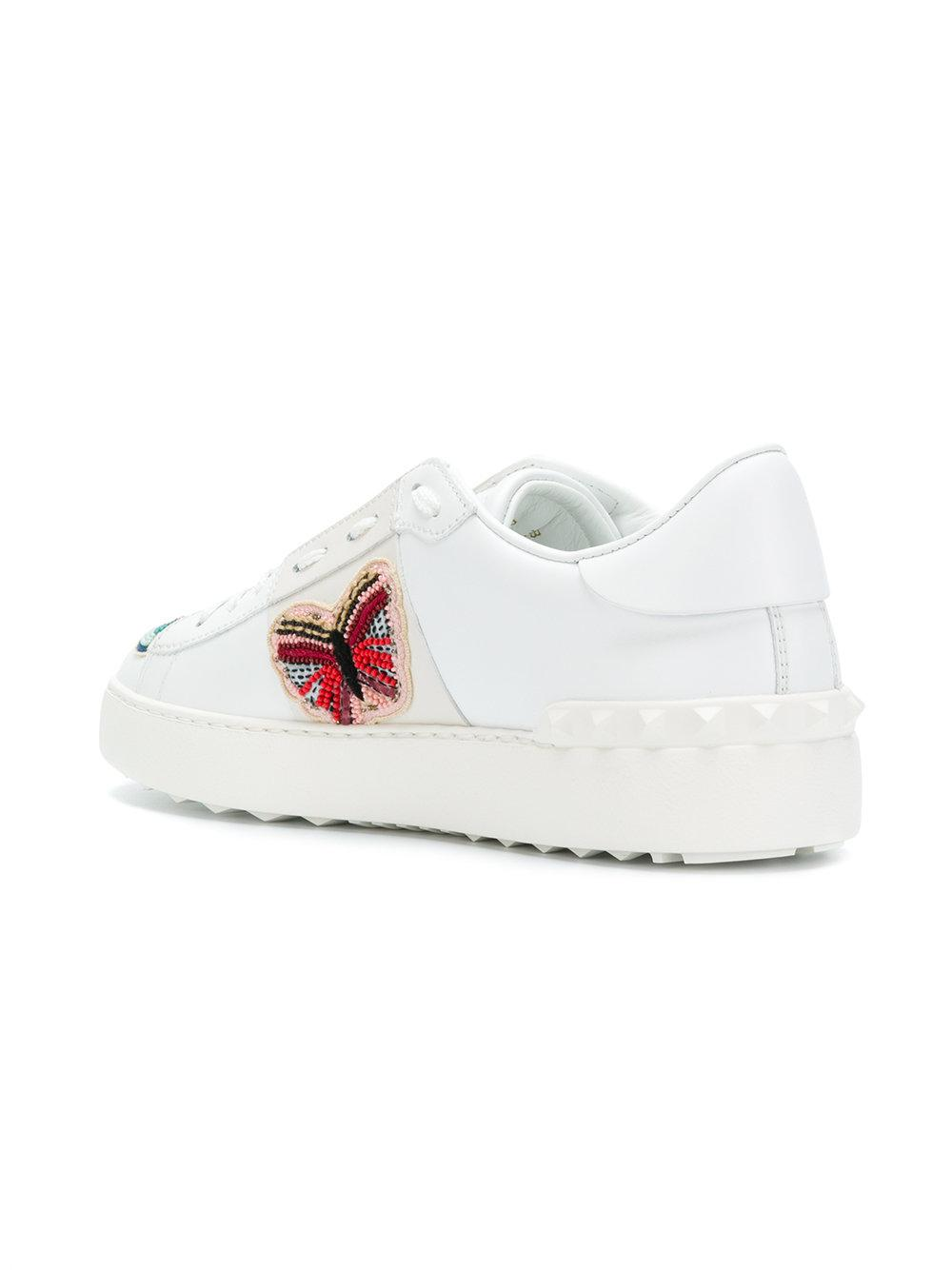 Valentino Embellished butterfly sneakers 5MPKUw