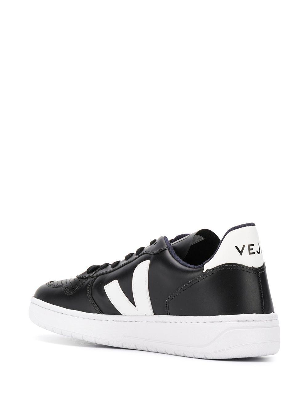 Zapatillas bajas V-10 Veja de Cuero de color Negro para hombre