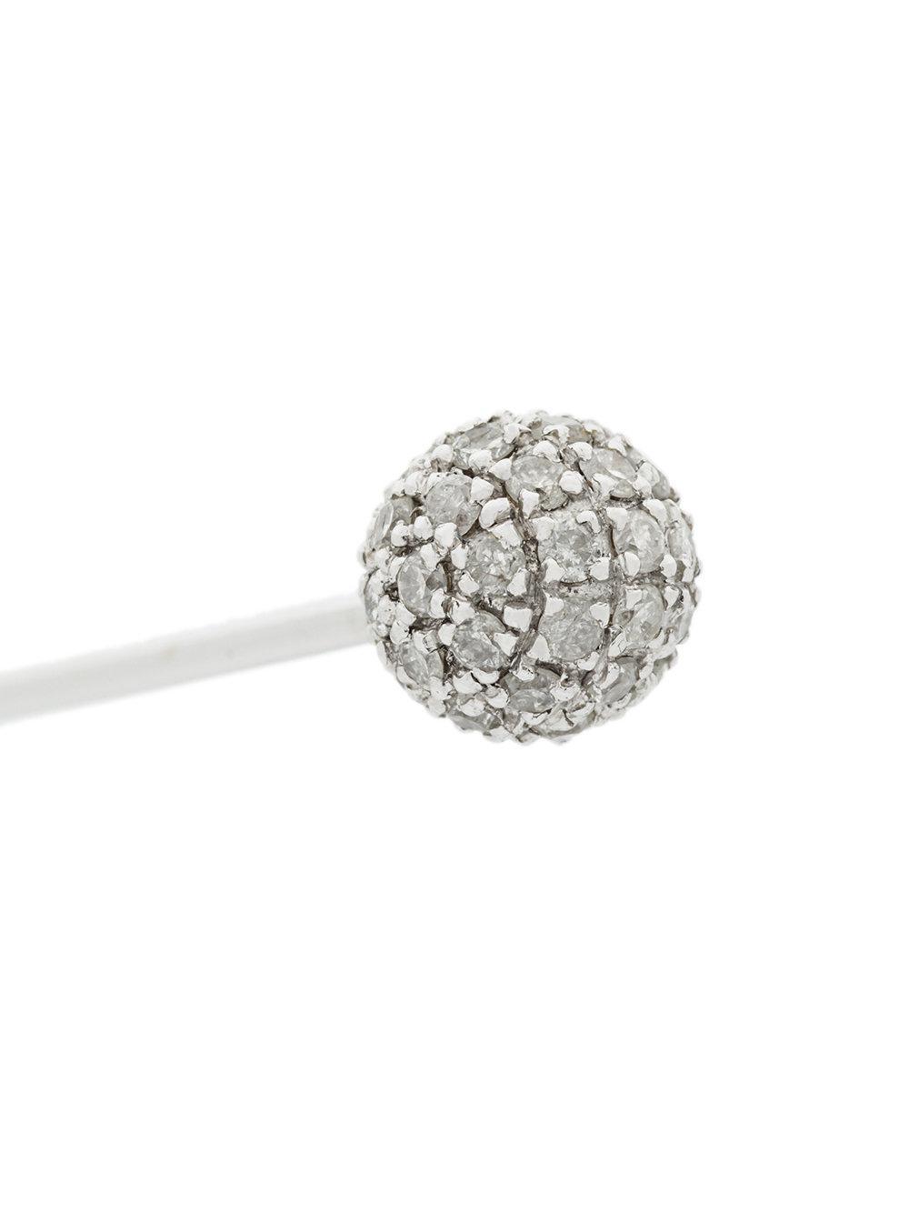 Elise Dray embellished bar stud earring - Metallic 5xPFNXNyH