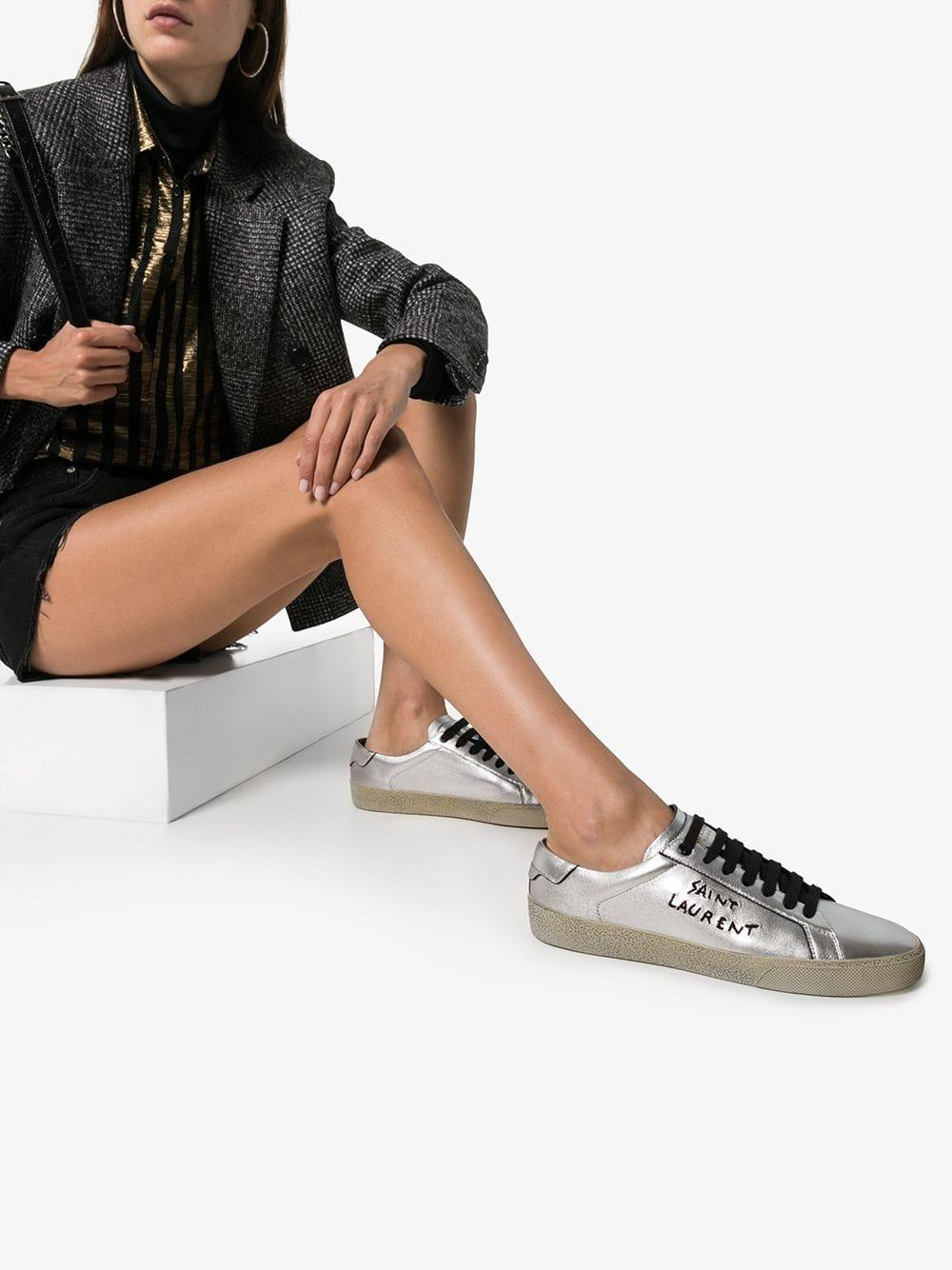 Classic Laminated Court Leather Sneaker