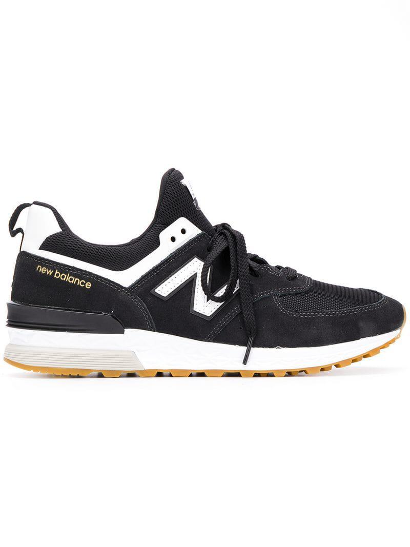 New Balance - Black 574 Sneakers for Men - Lyst. View fullscreen 981946b8f
