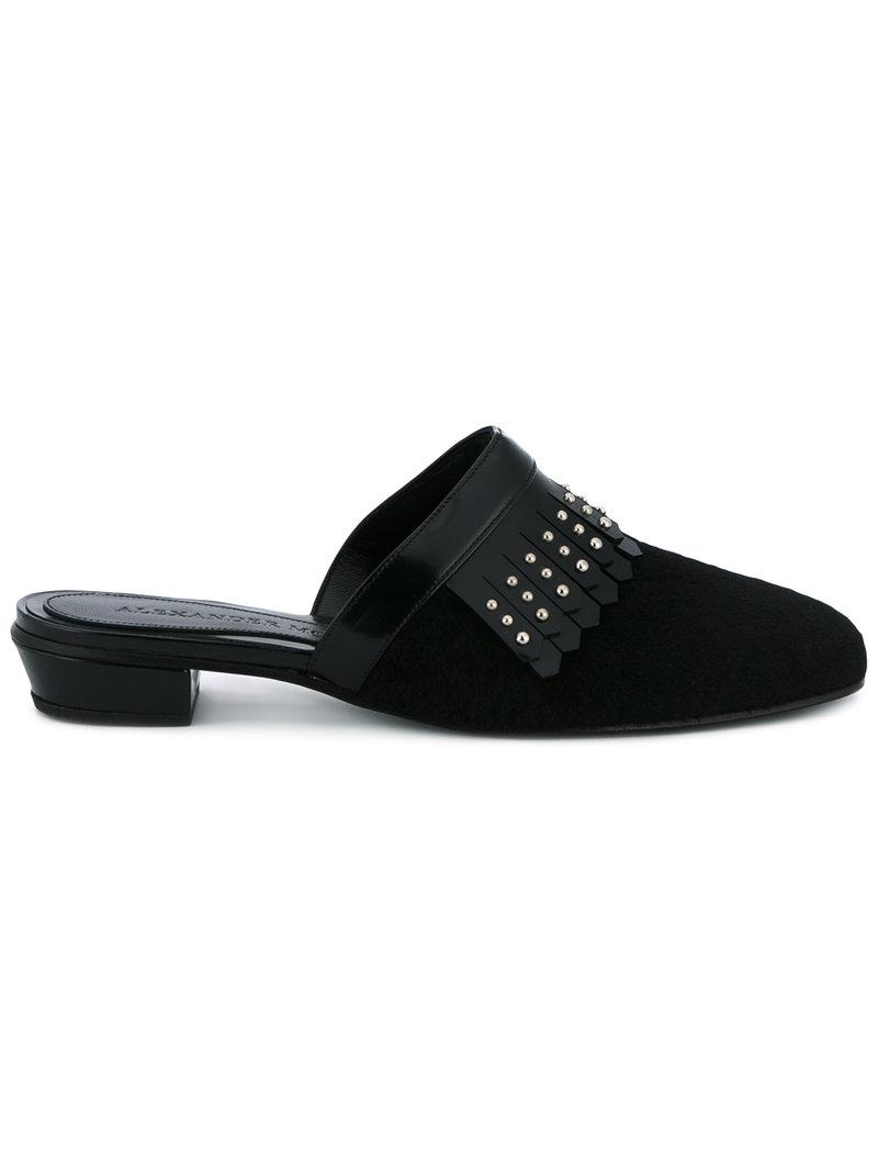 Buy Cheap For Sale Alexander McQueen Stud embellished mules Prices Sale Online High Quality Sale Online Outlet Limited Edition JkBIf