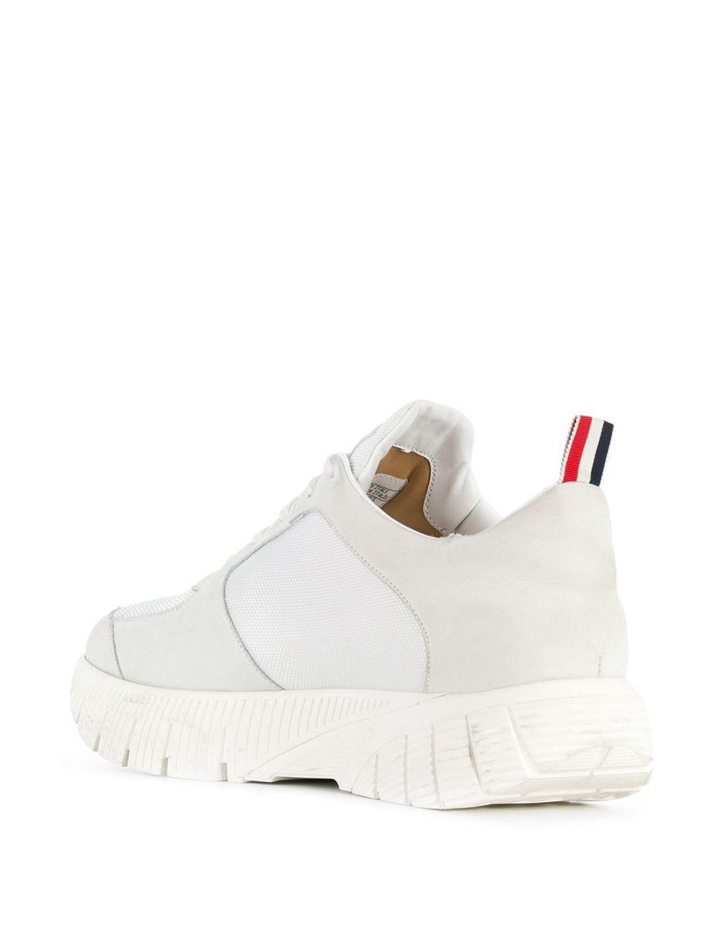 Thom Browne Leder Sneakers mit breiter Sohle in Weiß für Herren k0jKm