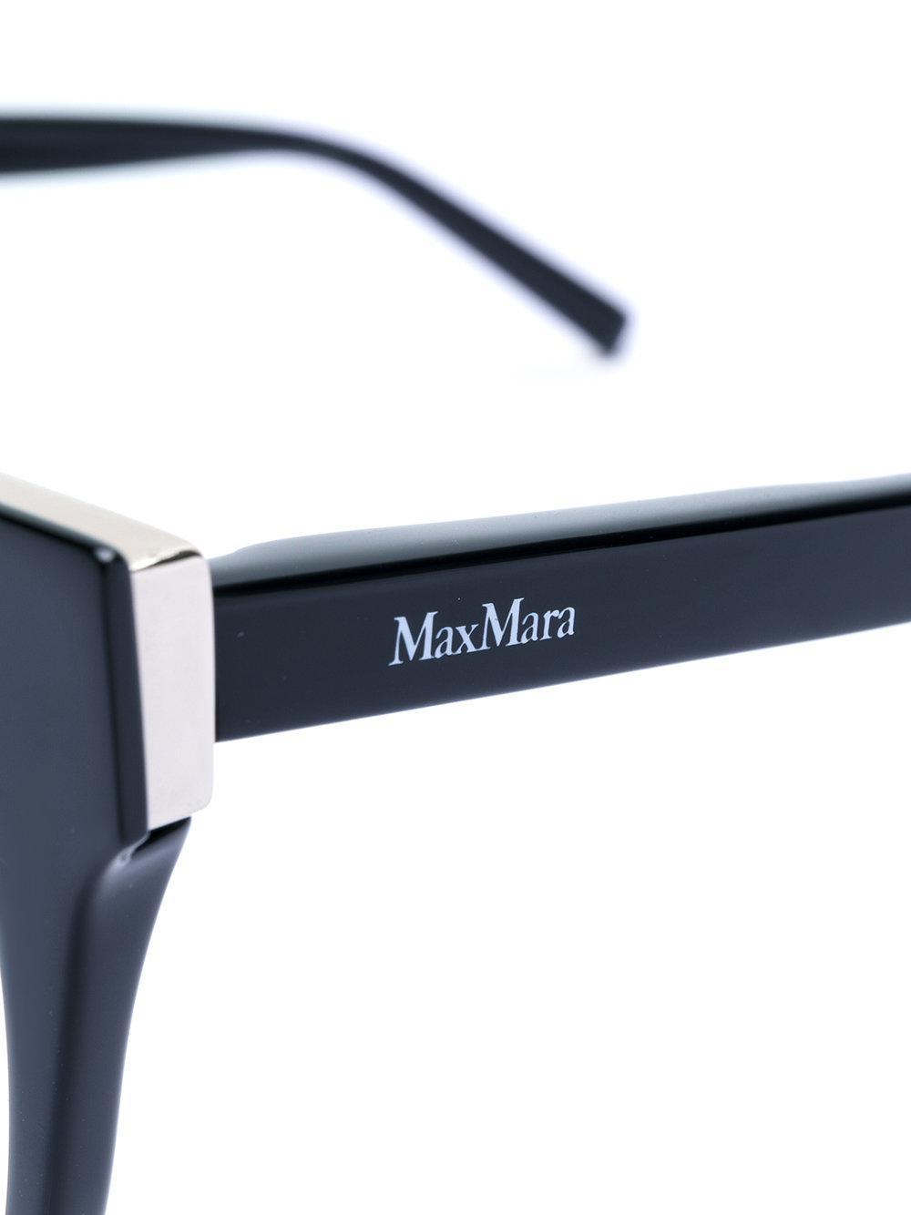 40785482e28 Lyst - Max Mara Cat-eye Optical Glasses in Black
