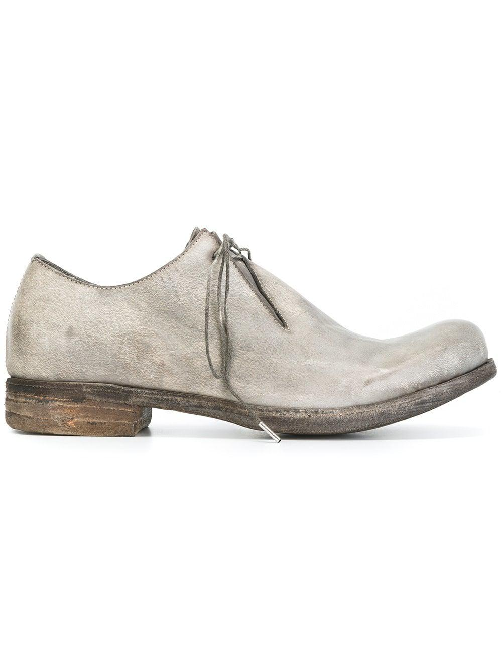 A Diciannoveventitre Leather Classic Derby Shoes in Grey (Grey) for Men