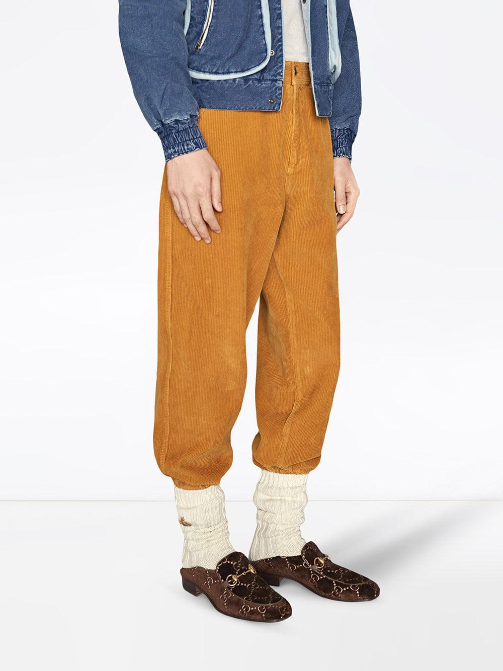 c6cde4145cd Lyst - Gucci Horsebit GG Velvet Loafer in Brown for Men