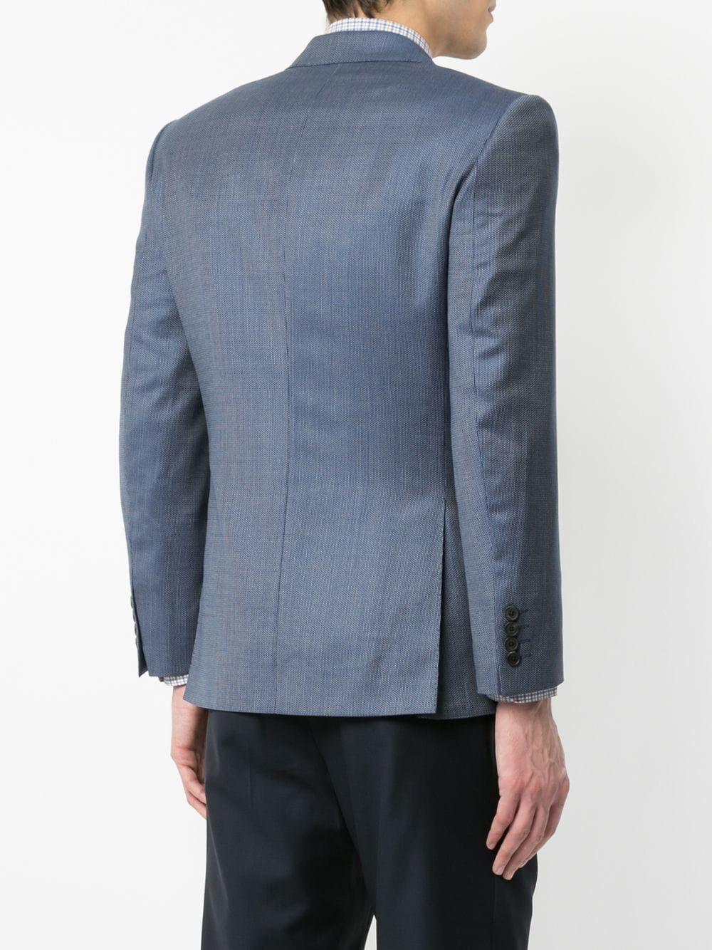 Gieves & Hawkes Wol Klassieke Getailleerde Blazer in het Blauw voor heren