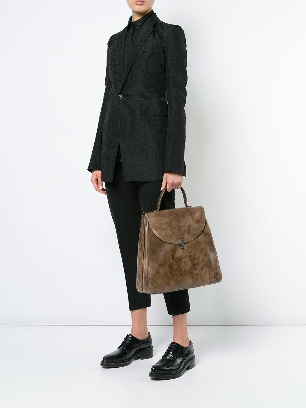 Cherevichkiotvichki Leather Large Tote Bag in Brown