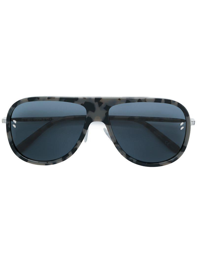 6de76ef3d9 Stella McCartney - Gray Gafas de sol de carey estilo aviador - Lyst. Ver en  pantalla completa