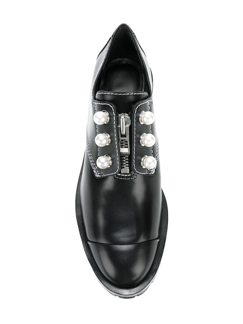 3.1 Phillip Lim Faux pearl zip up boots BM35zk