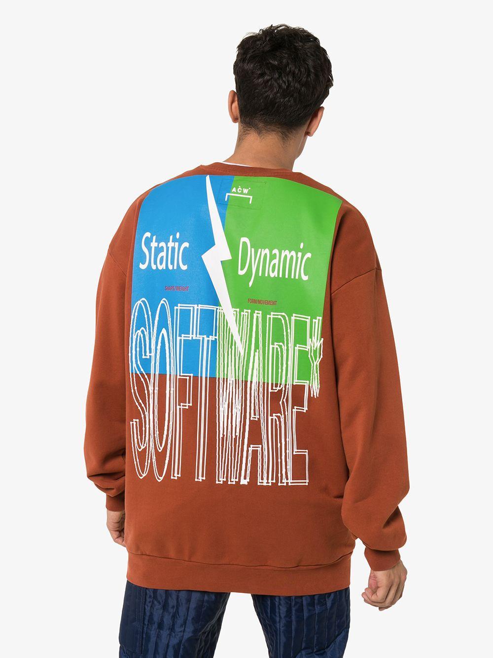 A_COLD_WALL* Katoen Sweater Met Print in het Bruin voor heren