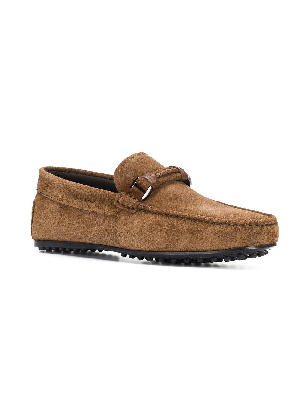 Tod's Leather Buckle-detailed Loafers in Brown for Men