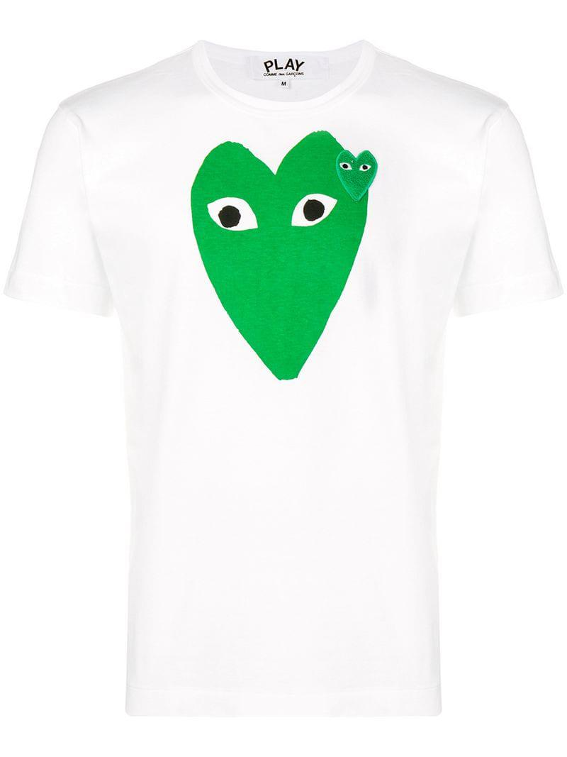 305e4c6d4c7b COMME DES GARÇONS PLAY Heart Logo T-shirt in White for Men - Lyst