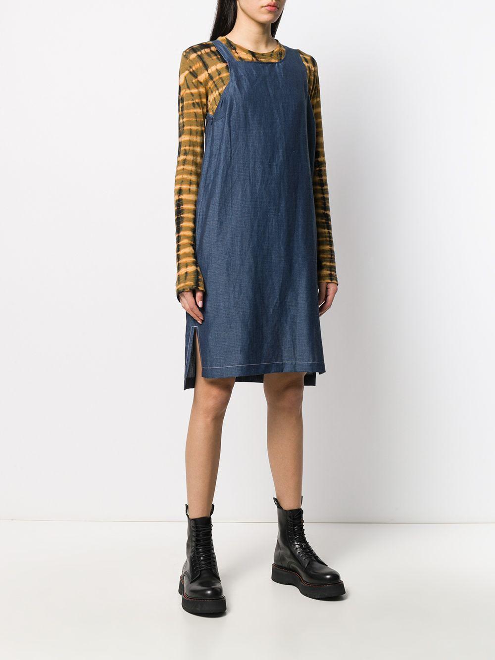 Robe sans manches à encolure carrée Jean Reality Studio en coloris Bleu