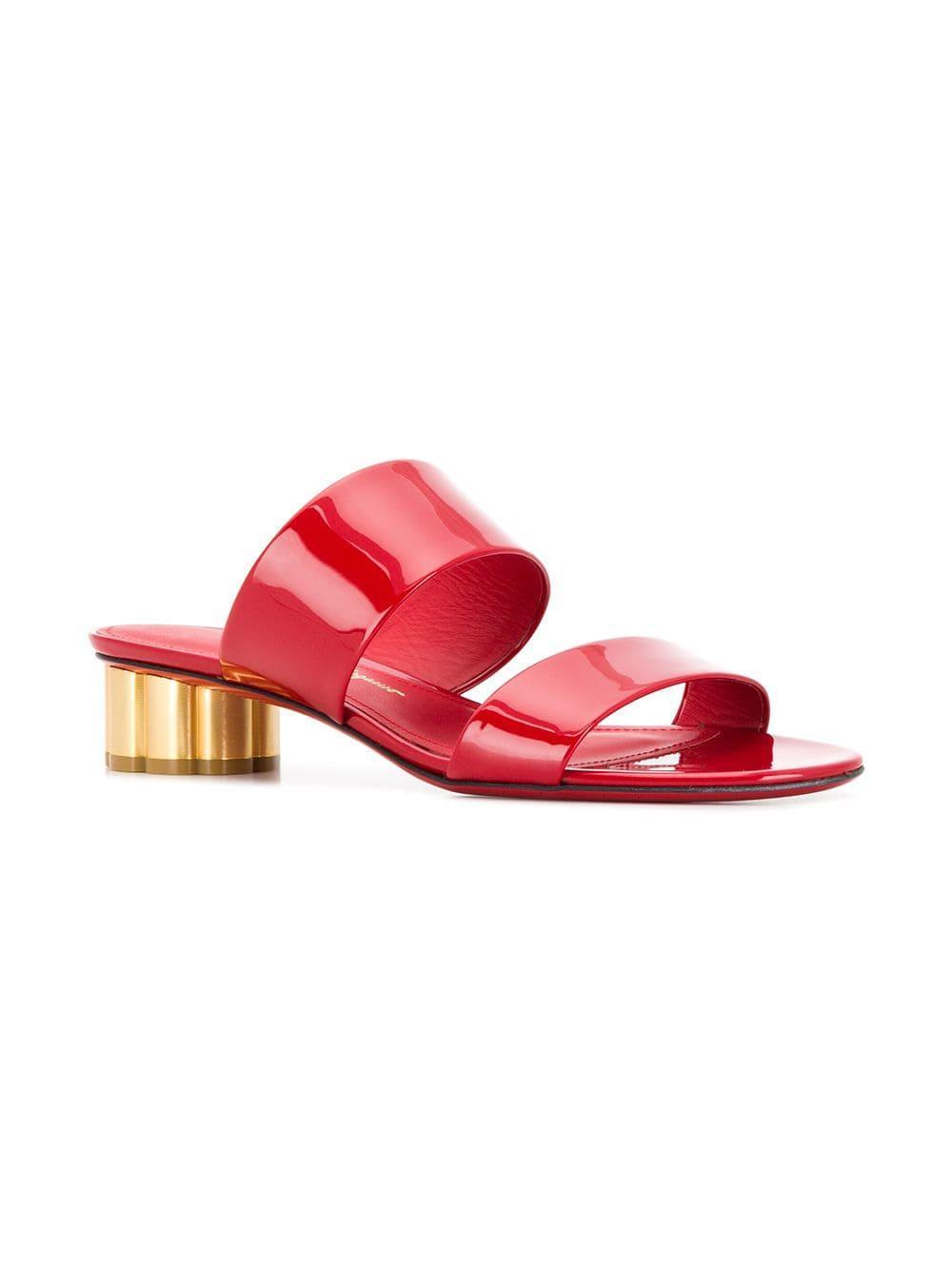 1f0faf5196e7 Women s Red Flower Heel Sandals