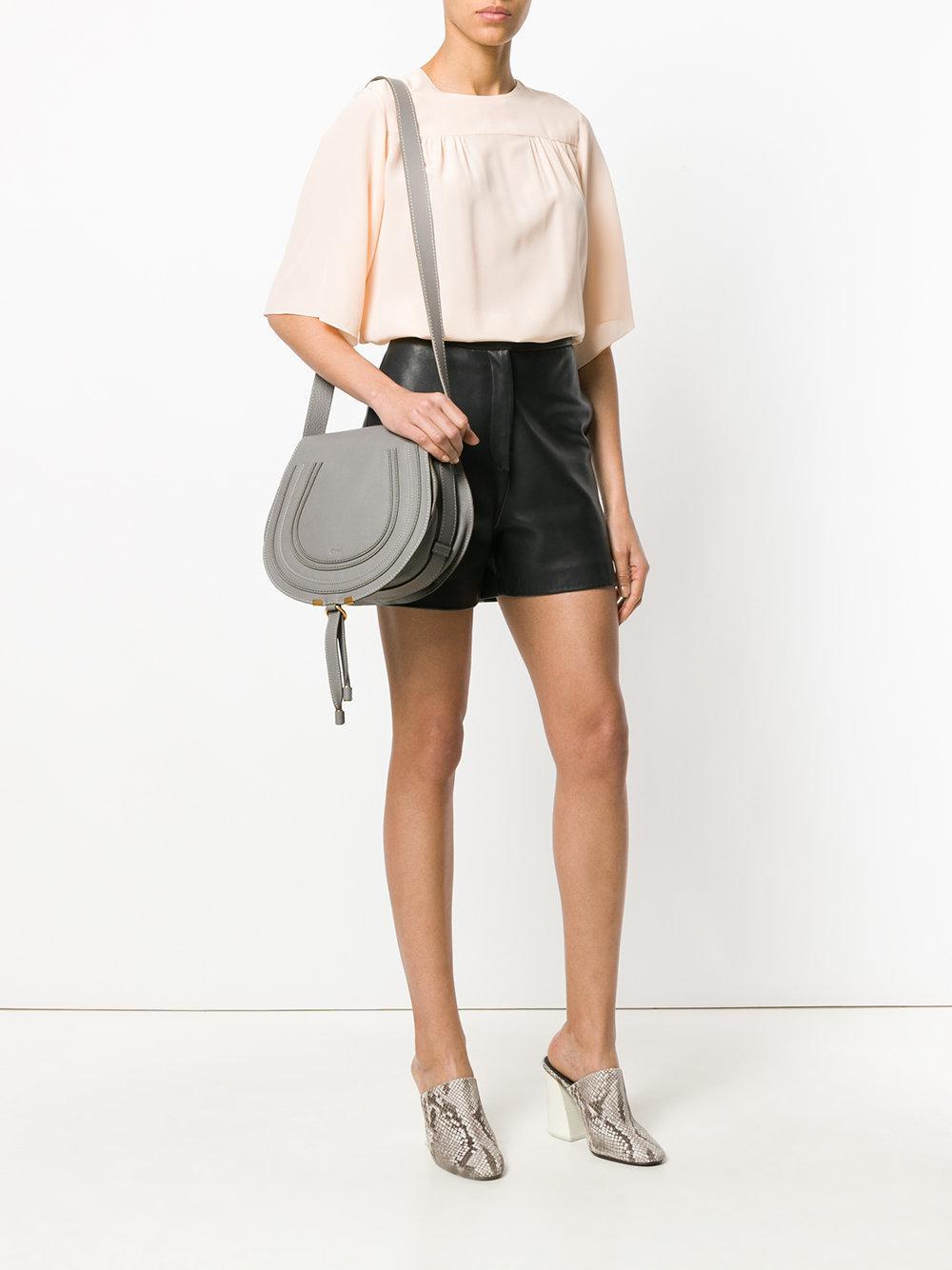 7ec3761873 Lyst - Chloé Marcie Shoulder Bag in Gray - Save 7%