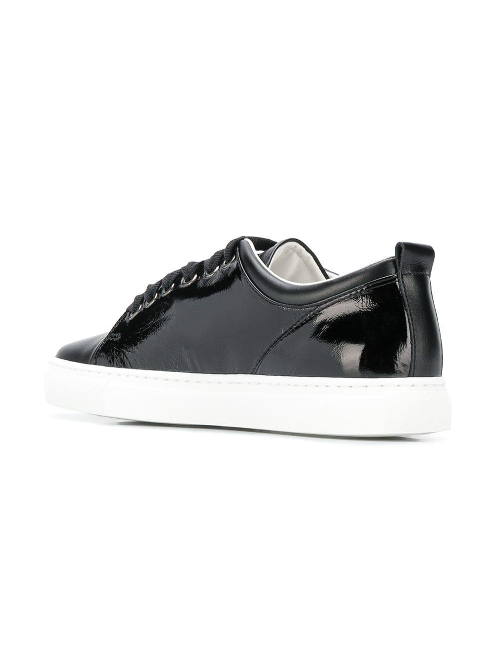 Lanvin Leather Patent Tennis Sneakers