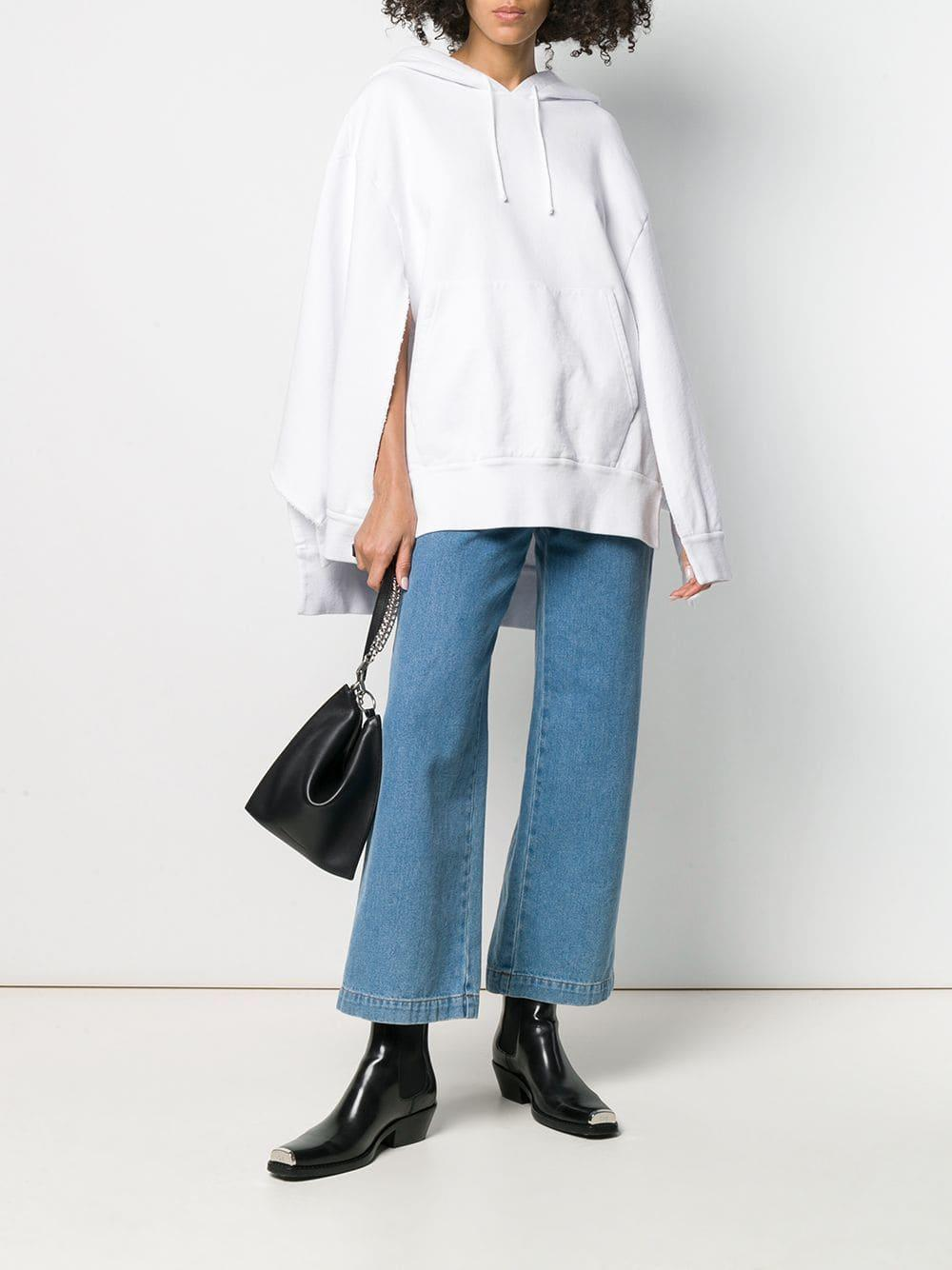 Sudadera oversize estilo capa Maison Margiela de color Blanco