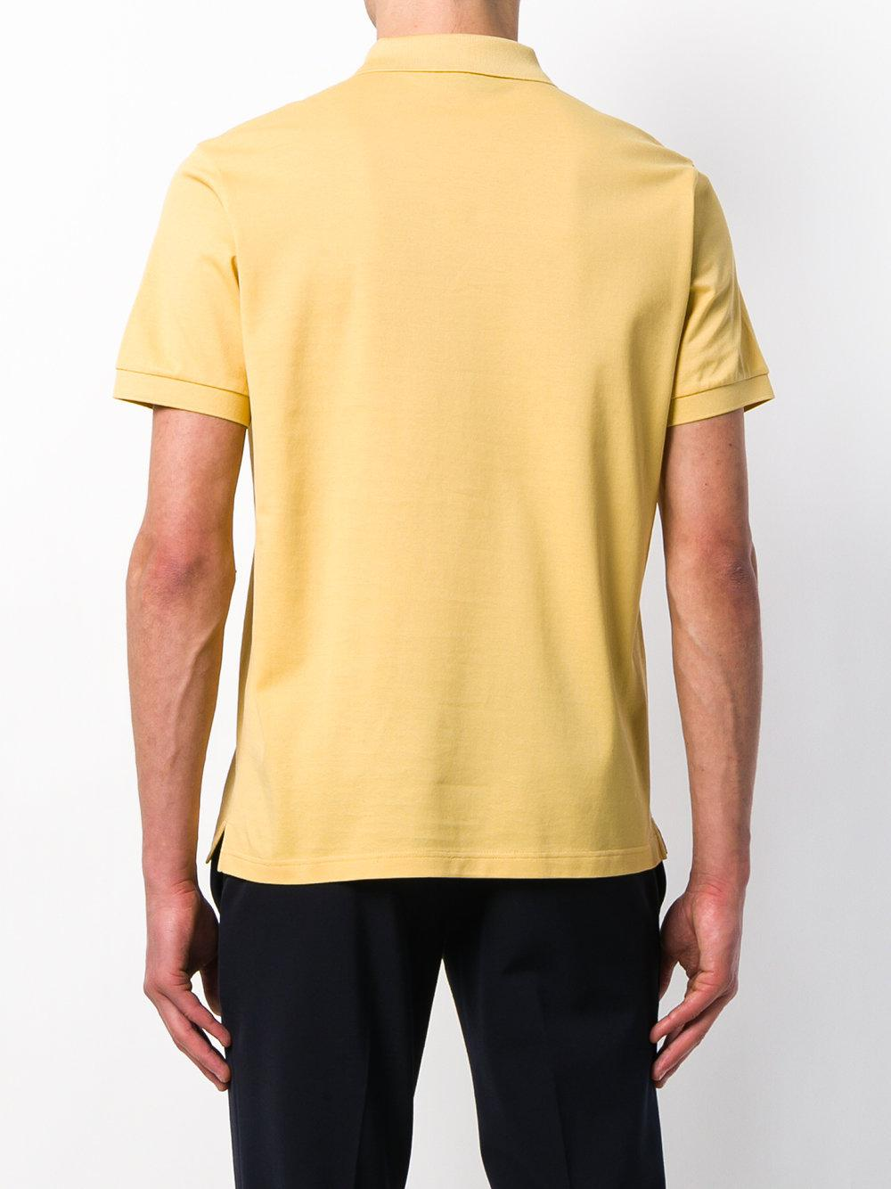 Prada Classic Polo Shirt in Yellow & Orange (Yellow) for Men