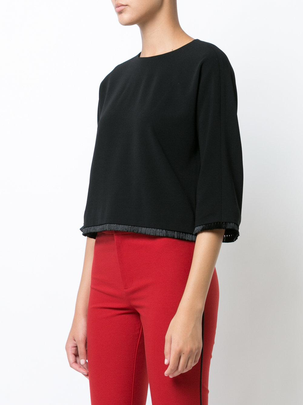 Cropped Short Sleeve Top - Red Derek Lam Inexpensive Cheap Online fMWvYp