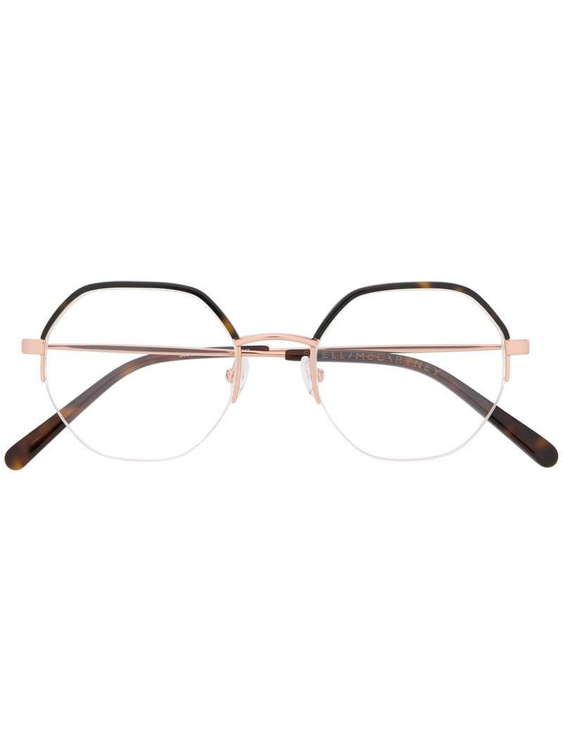 adafdccc11d Stella McCartney - Metallic Octagonal Frame Glasses - Lyst. View fullscreen