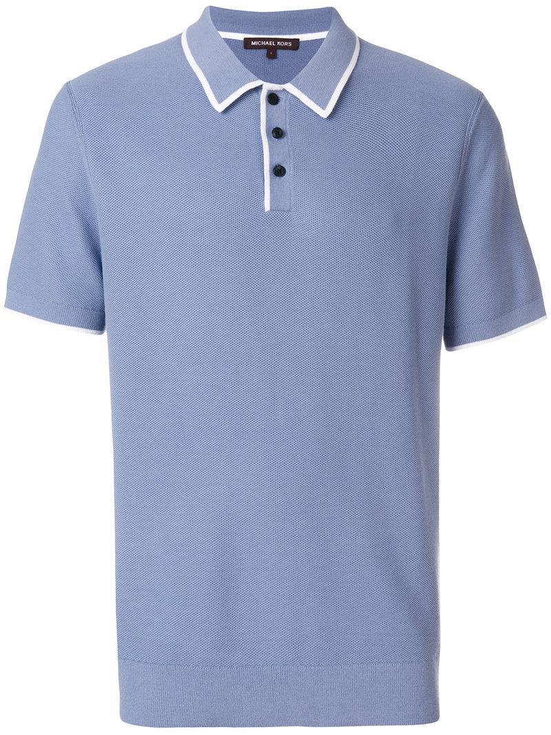 44415b44 Lyst - Michael Kors Contrast Trim Polo Shirt in Blue for Men