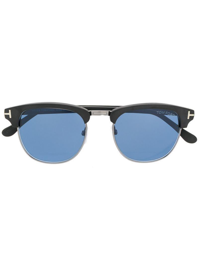 80945b848d0 Tom Ford Square Frame Sunglasses in Black - Lyst
