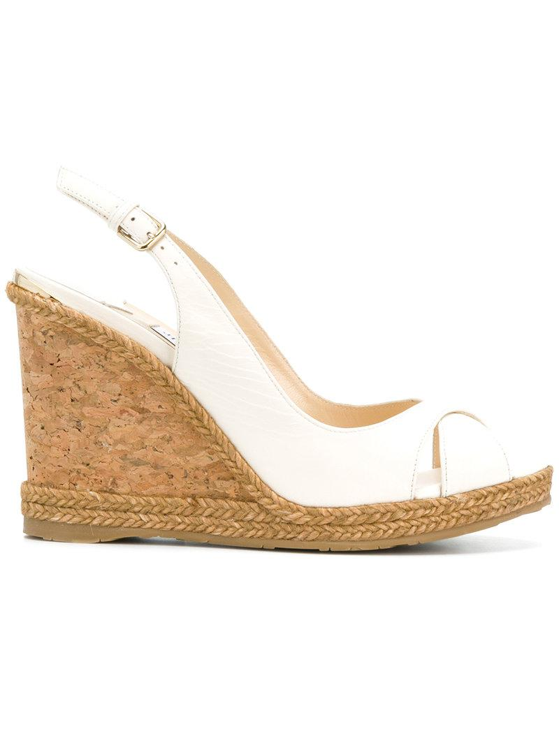 Jimmy Choo. Women's White Amely 105 Sandals