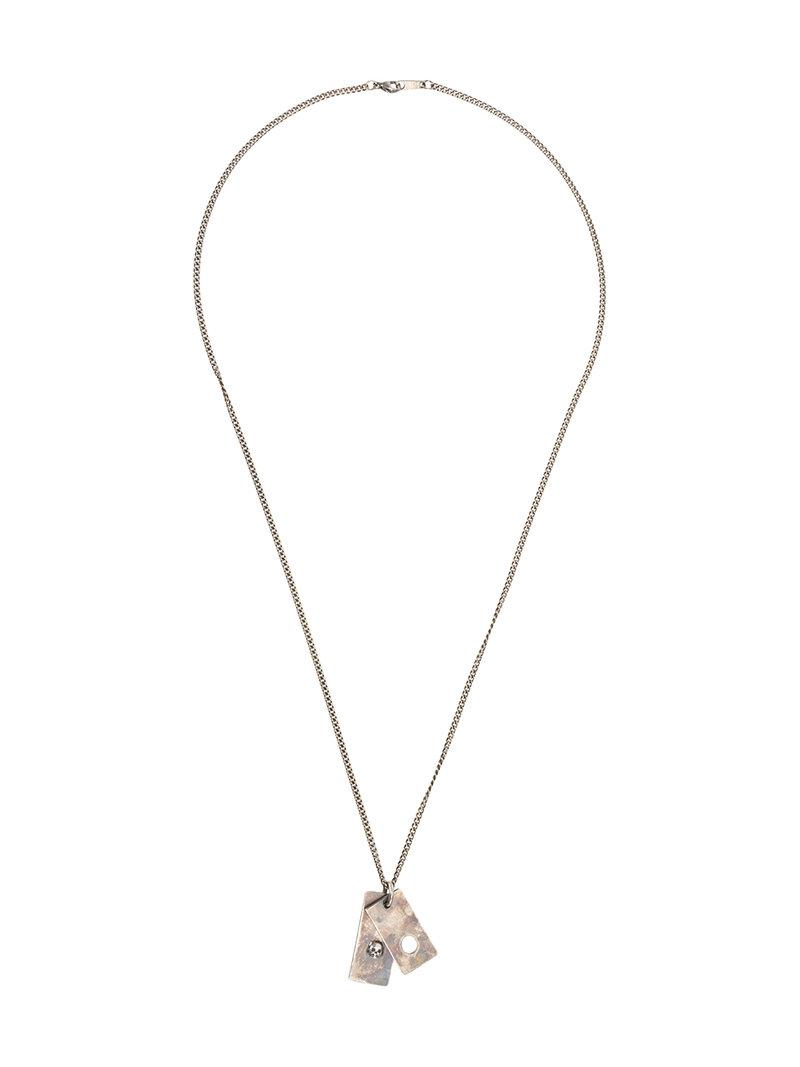Tobias Wistisen skull plate necklace - Metallic ttaY4y2U