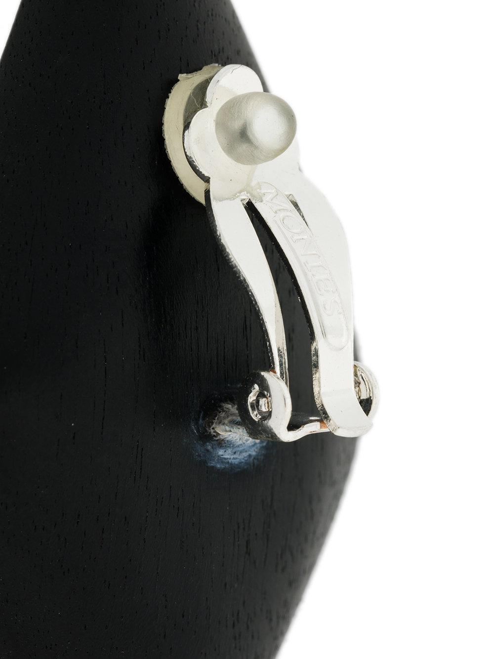 Monies large diamond-shape earrings - White QFBEPHxW
