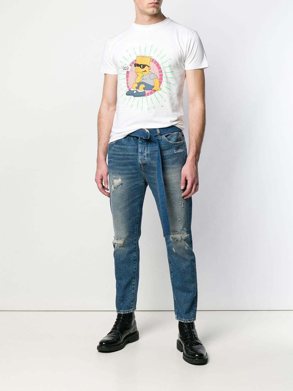 65a96135 Off-White c/o Virgil Abloh Slim Low Crotch Jeans in Blue for Men - Lyst