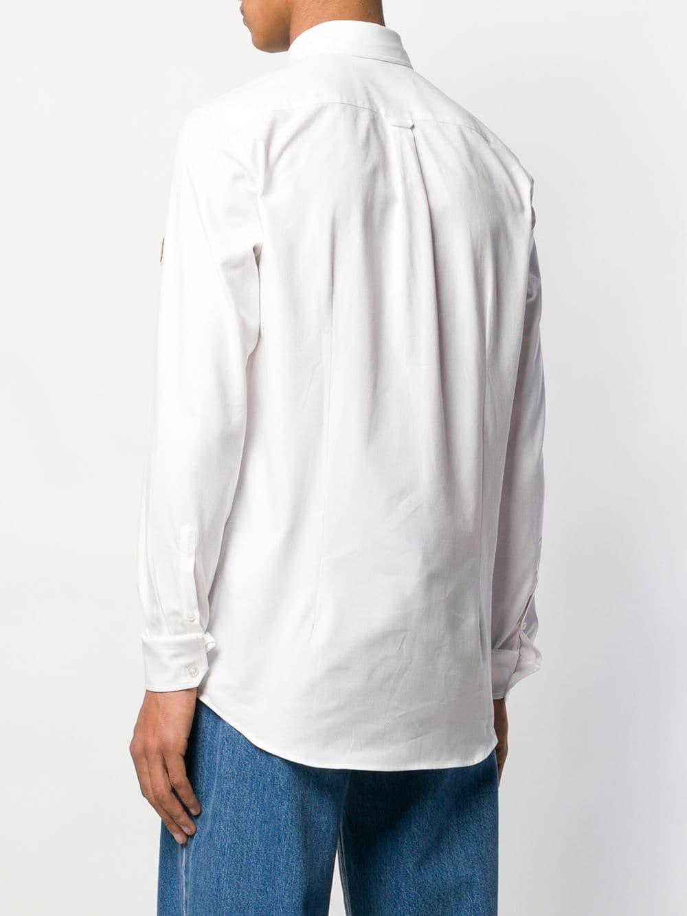 Golden Goose Deluxe Brand Ganzendons Overhemd Met Logopatch in het Wit voor heren