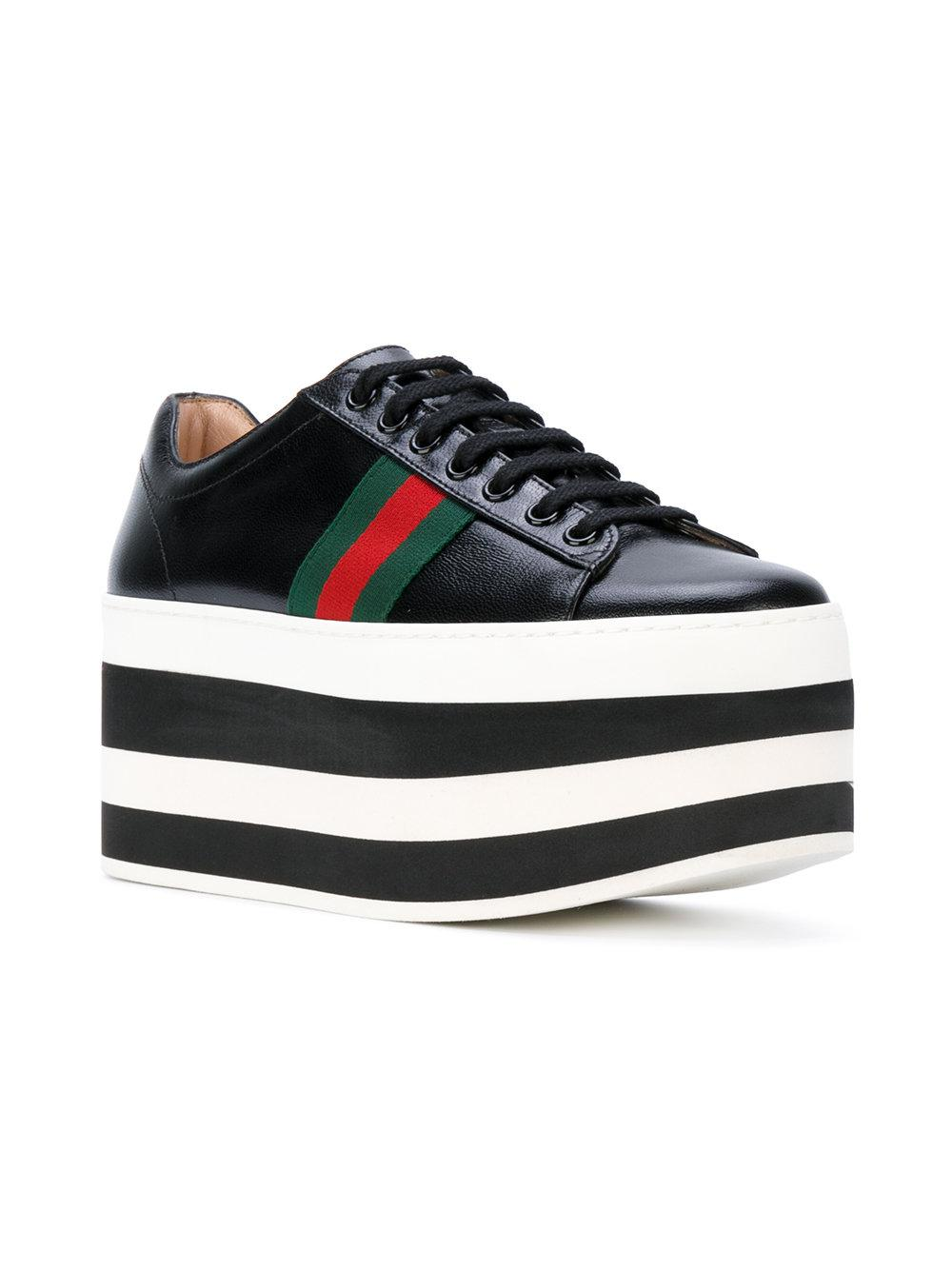 Gucci Leather Platform Sneakers in