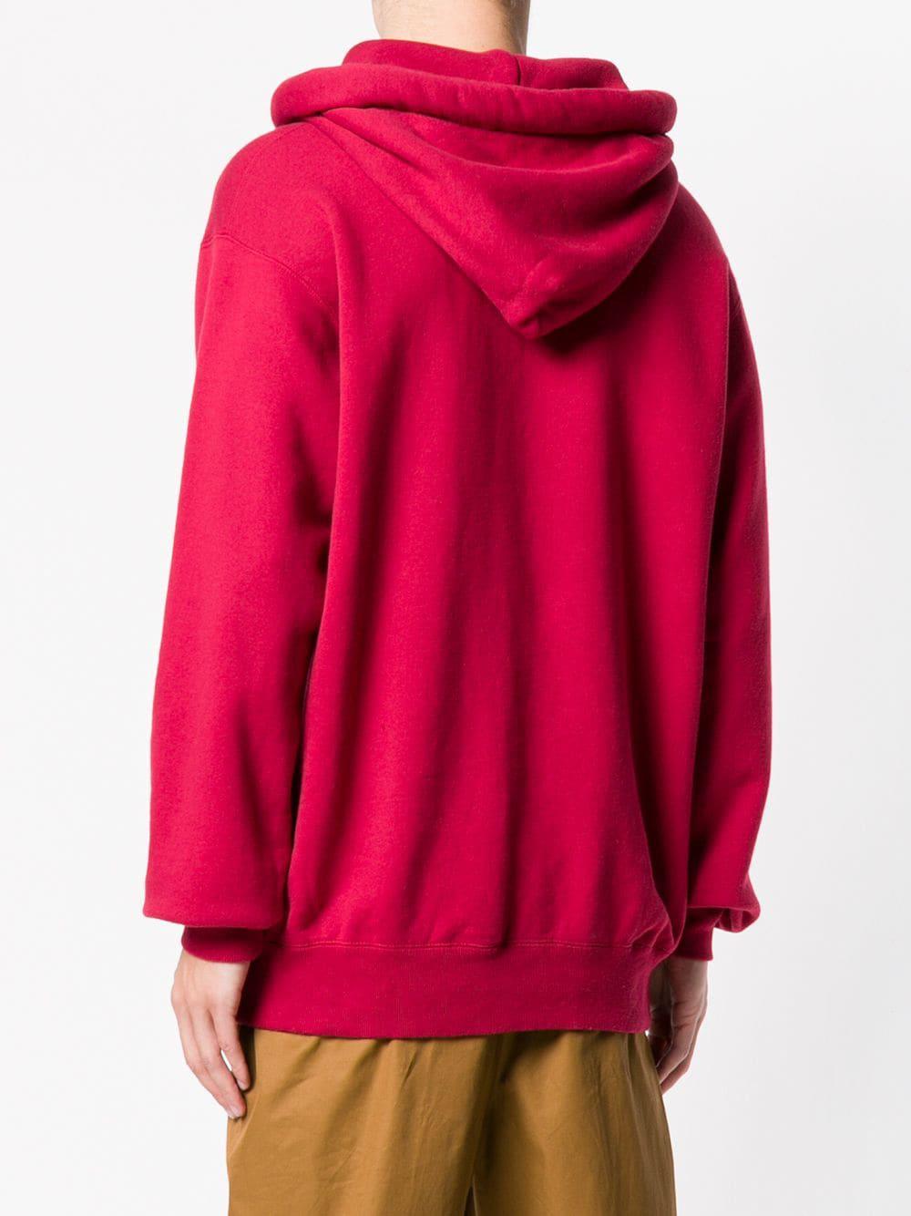 Ambush Cotton Multiple Drawstring Logo Hoodie in Red