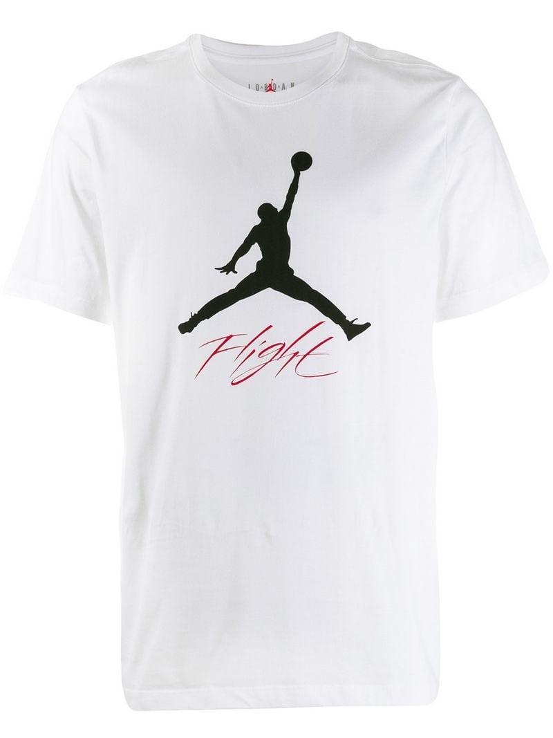f2453971ce49 Nike Jordan Jump Man T-shirt in White for Men - Lyst