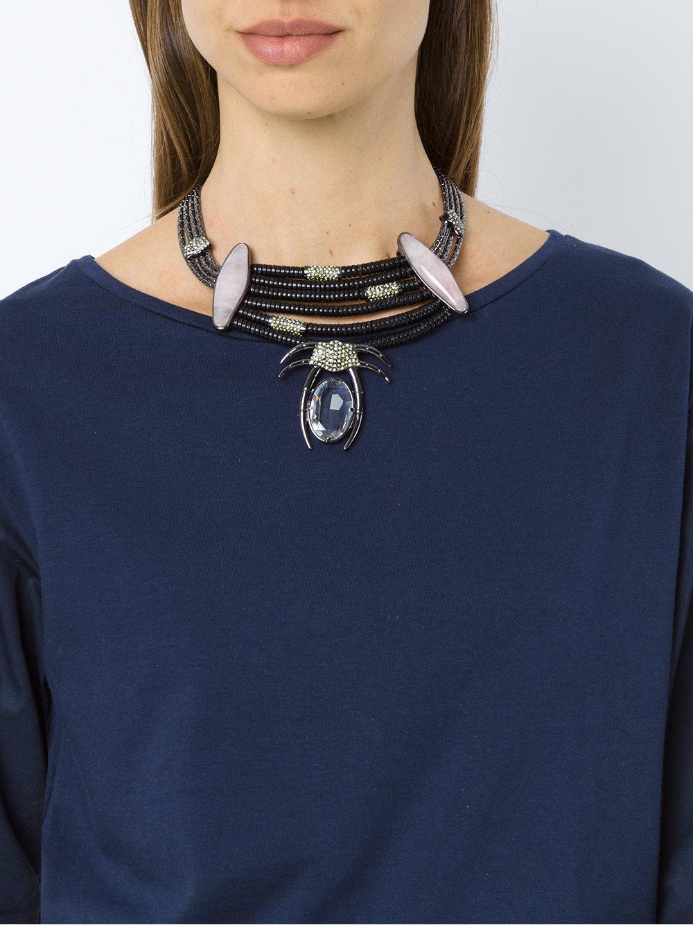 Camila Klein Millipede Necklace in Metallic