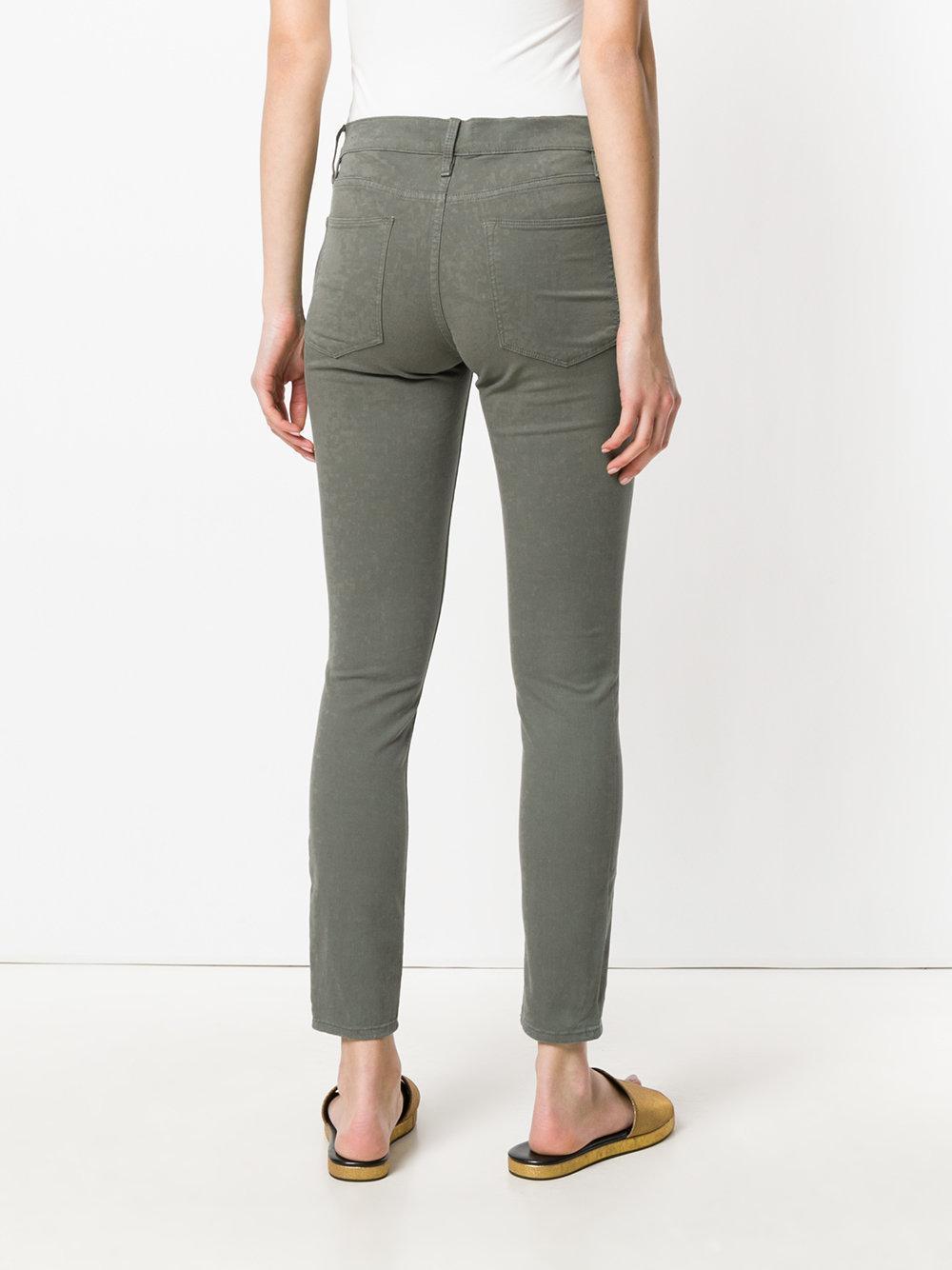 FRAME Denim Le High Skinny Jeans in Green