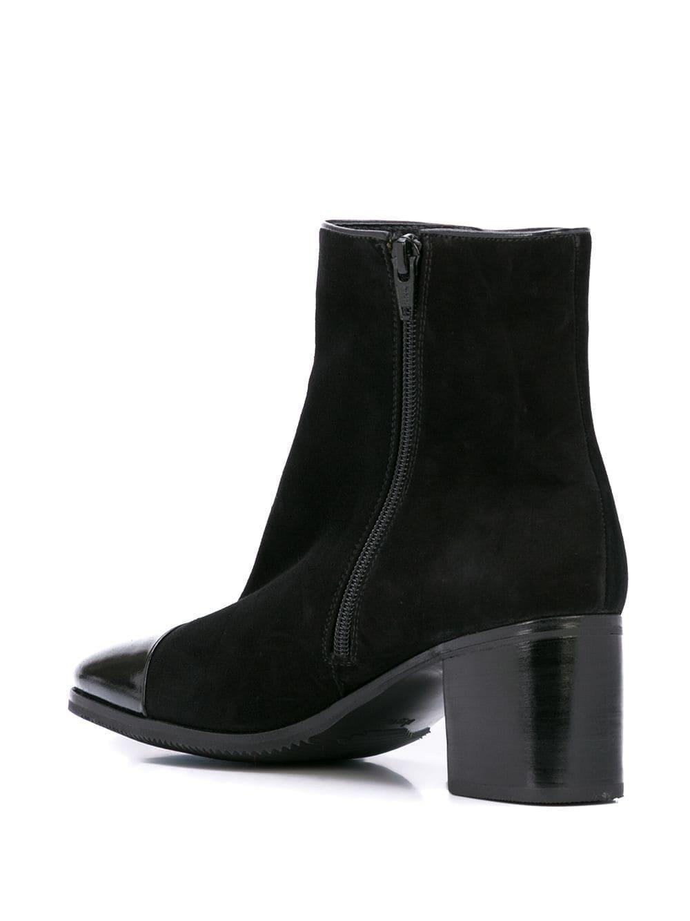 Botines con cremallera Gravati de Cuero de color Negro