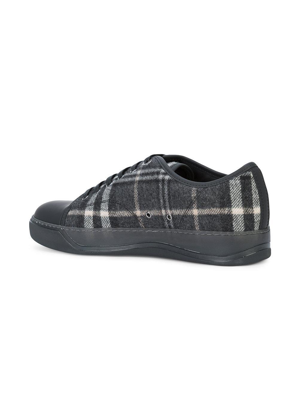 plaid felt low-top sneakers - Black Lanvin eLmZfvFXe