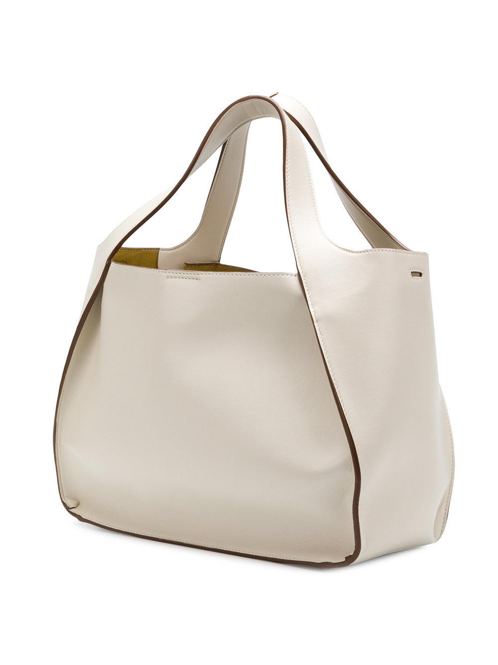 Stella McCartney Tote Bag Stella Logo en Eco-Cuir Poudré nAXwW9l