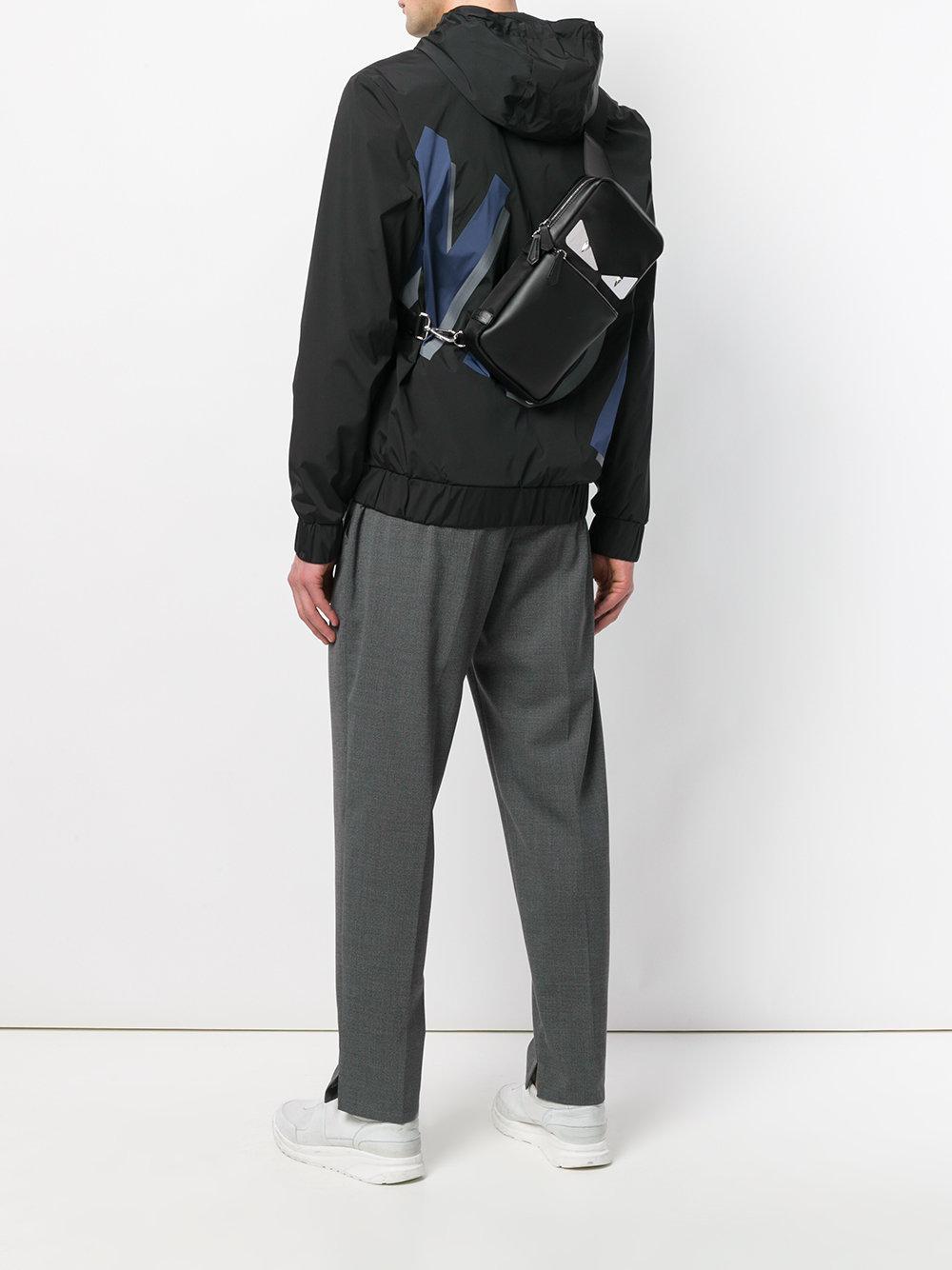7597e323ae37 Fendi - Black Bag Bugs-eyes Backpack for Men - Lyst. View fullscreen