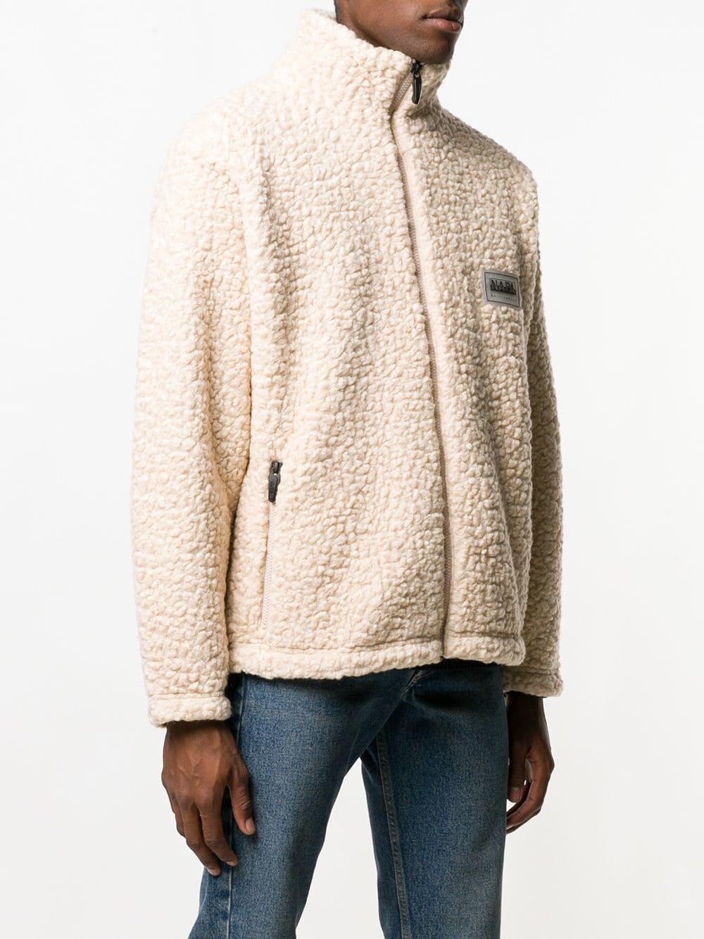 Lyst Martine Rose Shearling Jacket In White For Men