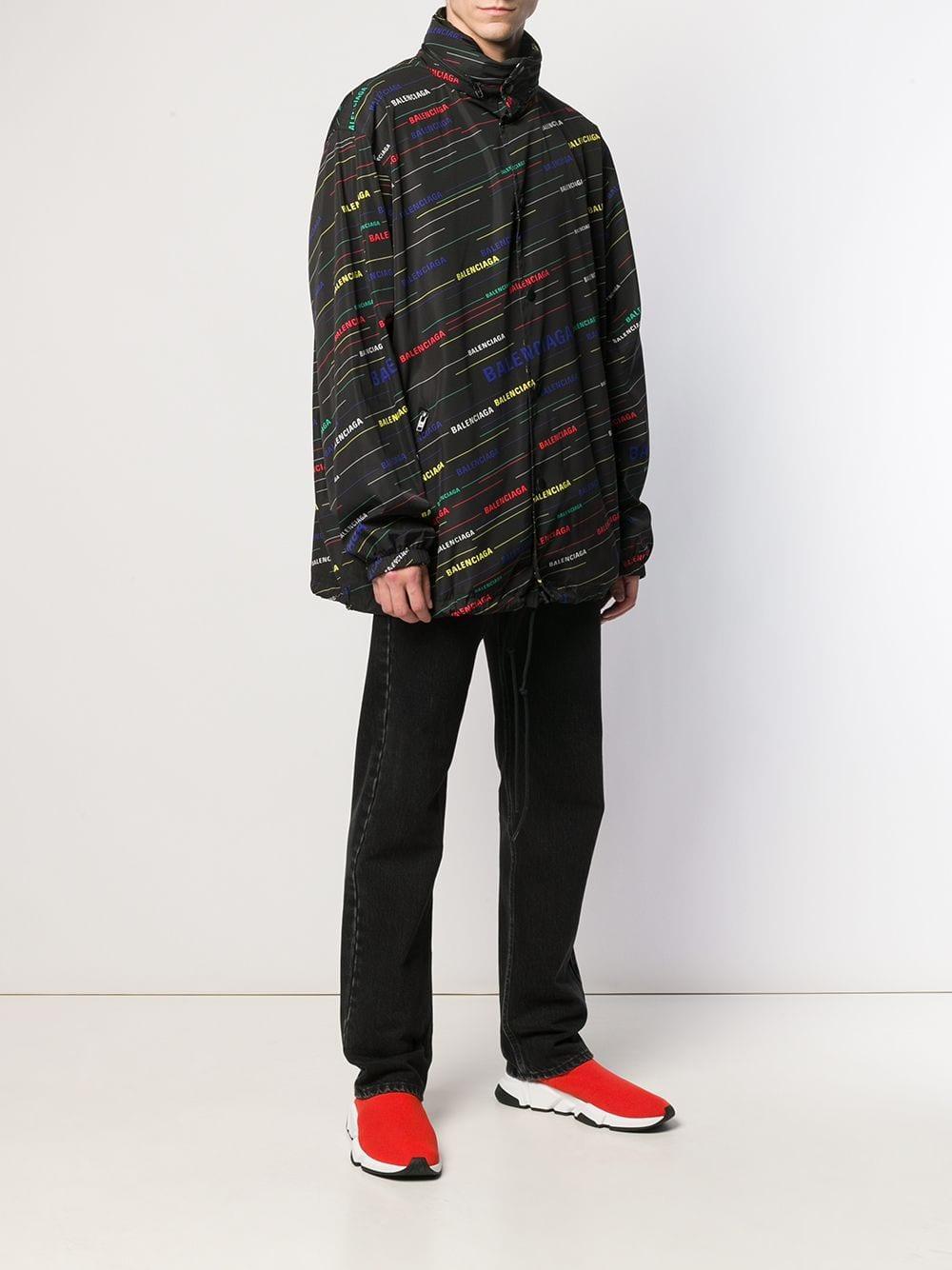Balenciaga Synthetisch Oversized Regenjas in het Zwart voor heren