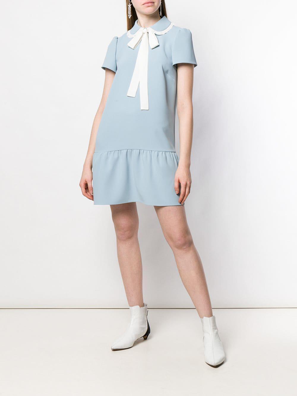 a1aeaf90b955 RED Valentino - Blue Techno Fluid Shirt Dress - Lyst. View fullscreen