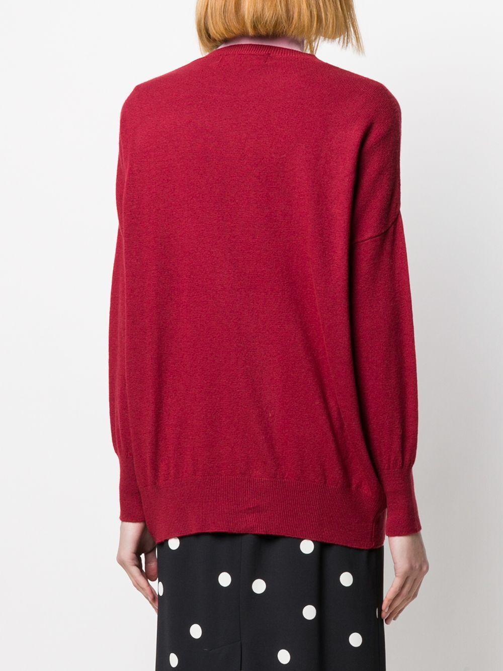 Jersey de punto fino Guardaroba de Lana de color Rojo