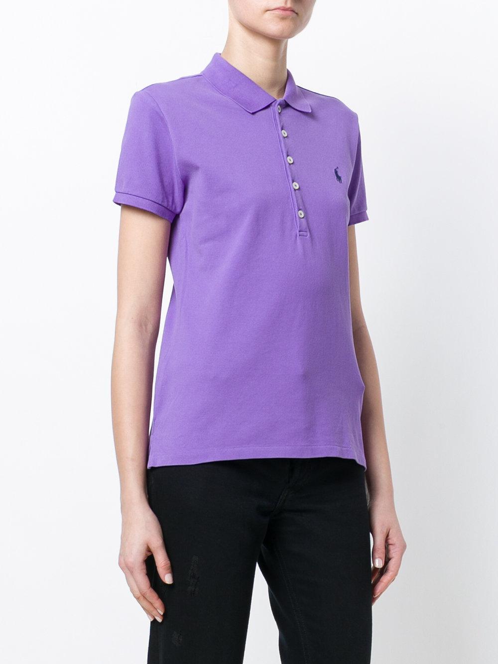 polo ralph lauren slim fit polo shirt in purple lyst. Black Bedroom Furniture Sets. Home Design Ideas