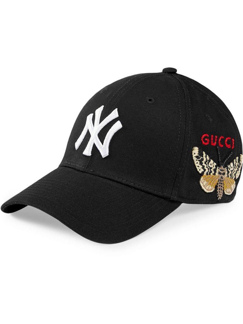 Lyst - Gorra de béisbol con parche NY YankeesTM Gucci de hombre de ... cd83e1d6521