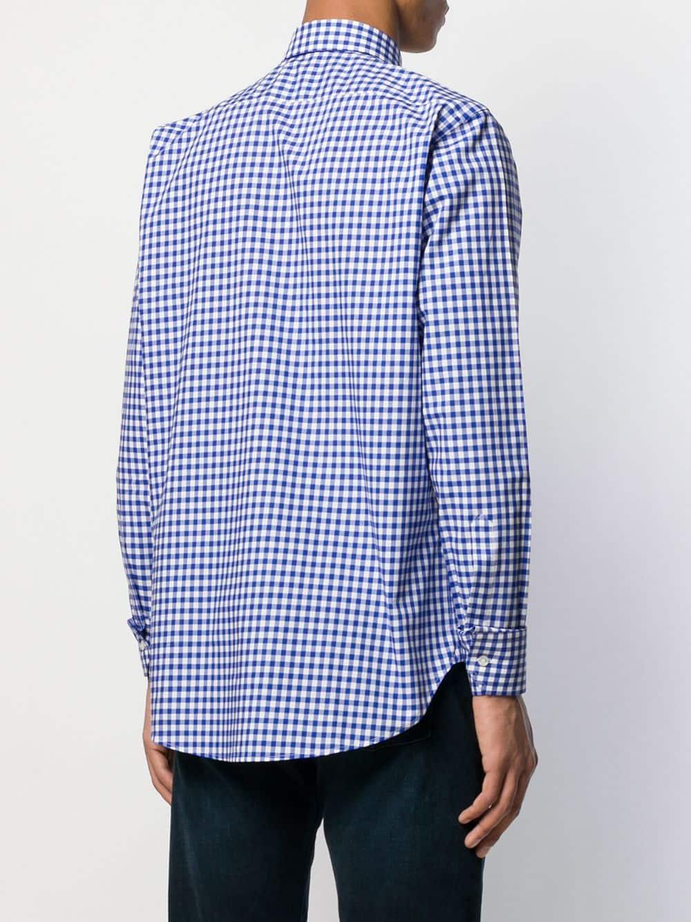 Etro Geruit Overhemd in het Blauw voor heren